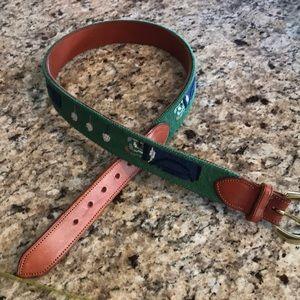 Osborne & Robert Palm Beach needlepoint belt